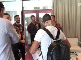Retorno emocionante de Santi Cazorla à seleção espanhola. DUGOUT