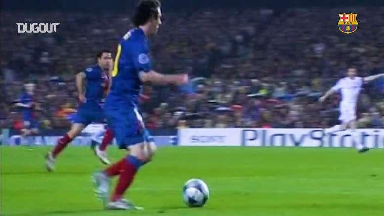 Leo Messi, genio de la Champions. DUGOUT
