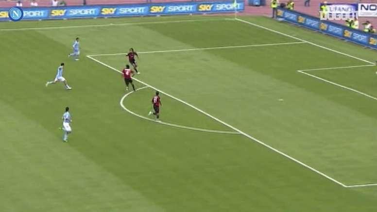 VIDÉO: Le but incroyable de Marek Hamsik contre l'AC Milan. Dugout