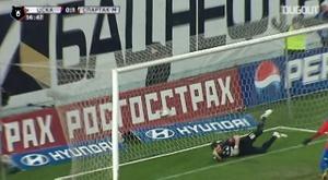 Honda's diving header against Spartak Moscow. DUGOUT