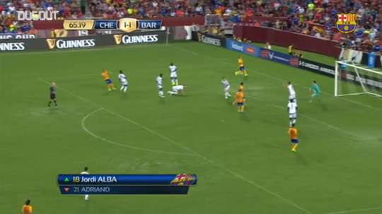 Sandro scored for Barcelona. DUGOUT