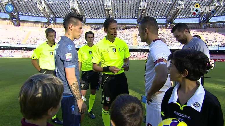 Napoli beat Roma 2-0 in 2014. DUGOUT