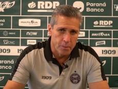 Técnico do Coritiba conversou com a imprensa após a vitória na casa do Palmeiras. DUGOUT