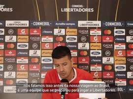 Juan Cruz Real analisou o adversário brasileiro desta terça-feira. DUGOUT