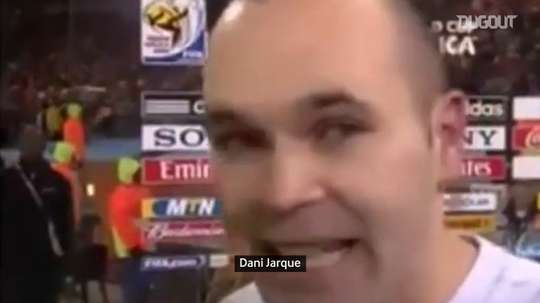 VIDEO: Iniesta's words after scoring the winner in the 2010 World Cup Final. DUGOUT
