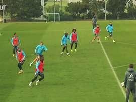 David Bettoni comanda as atividades do Real Madrid enquanto Zidane cumpre quarentena. DUGOUT
