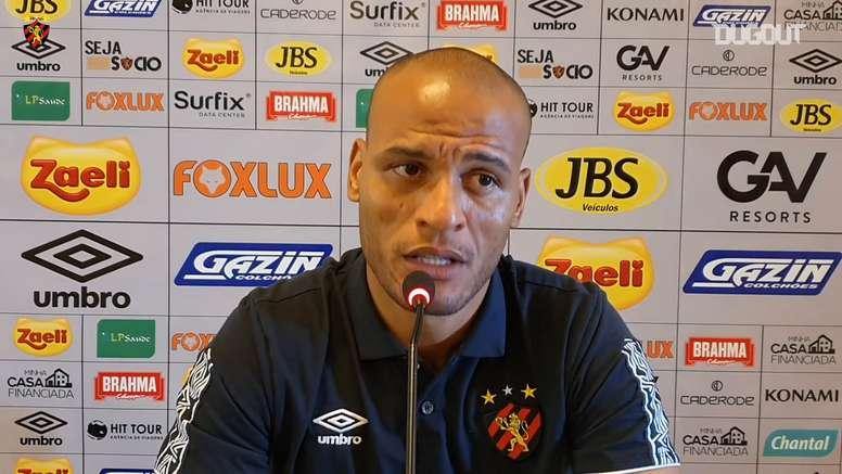 Patric comentou sobre o empate do Sport com o Palmeiras. DUGOUT