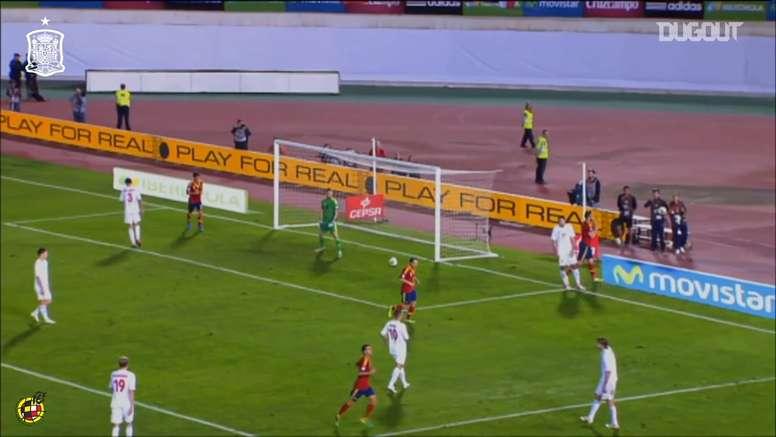Negredo scored for Spain. DUGOUT