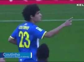 Coutinho marcó esta deliciosa falta cuando jugaba en el Espanyol. Dugout
