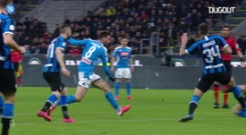 Fabian Ruiz scored a lovely goal for Napoli in the first leg against Inter. DUGOUT