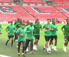 Have a look as Iwobi trained. DUGOUT