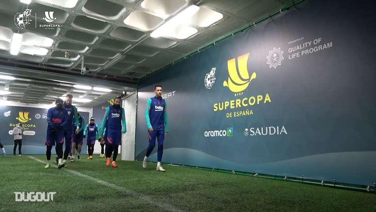 VÍDEO: el Barça coge fuerzas para la Supercopa. DUGOUT