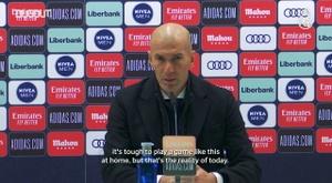 Zidane took responsibility. DUGOUT
