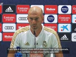 Zidane comentou sobre o foco do time para os últimos jogos do Campeonato Espanhol. DUGOUT