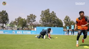 Club América's warm-up game in training. DUGOUT