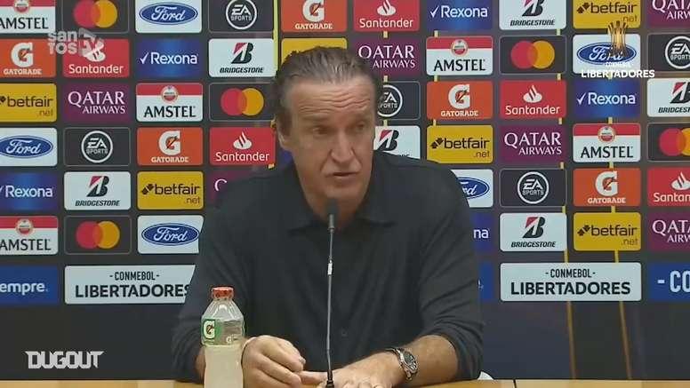 Cuca exaltou o desempenho do Santos na fase de grupos da Libertadores. DUGOUT