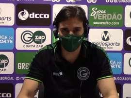 Após empate, Thiago Larghi fala da importância do Goiás pontuar no Brasileiro. DUGOUT