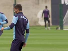 Nathan Ake and Ferran Torres are training with Man City. DUGOUT
