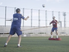El Barcelona siguió entrenándose. DUGOUT