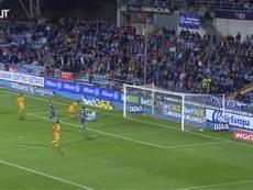 VÍDEO: la espectacular asistencia de Sergi Roberto a Suárez ante el Getafe. Captura/Dugout