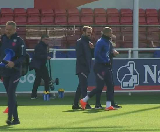 England trained. DUGOUT