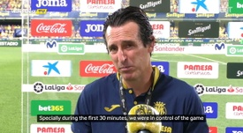 Emery spoke after the match. DUGOUT