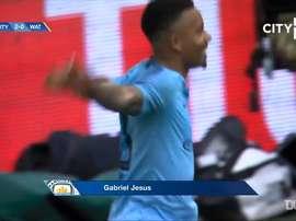 le doublé de Gabriel Jesus en finale de FA Cup face à Watford. DUGOUT