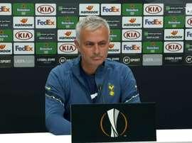 José Mourinho concedeu entrevista prévia à estreia na Europa League. DUGOUT