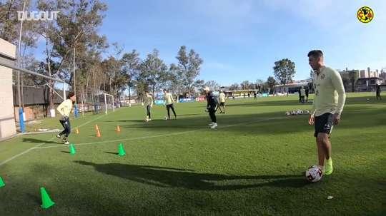 VIDEO: Club América's goalkeeper training. DUGOUT
