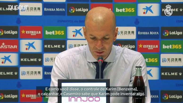 Zidane evita euforia e diz que LaLiga será decidida no final. DUGOUT