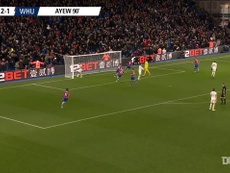 Jordan Ayew gave Palace all three points against West Ham back in December 2019. DUGOUT