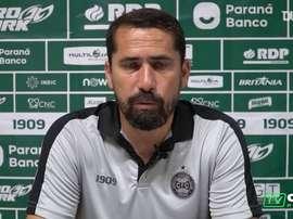 Gustavo Morínigo analisou a vitória do Coritiba na casa do Vasco. DUGOUT