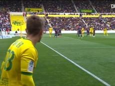 Les buts de la victoire de Nantes contre le PSG en 2019. DUGOUT