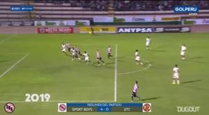 Los goles de Sebastián Penco con Sport Boys. Captura/DUGOUT
