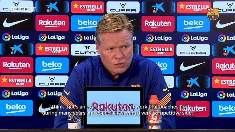 Koeman speaks ahead of Atlético match. DUGOUT