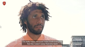 Elneny thanked Arteta after the Fulham win. DUGOUT
