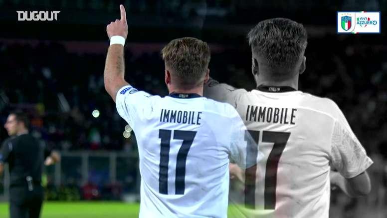 Gols de Ciro Immobile pela seleção italiana. DUGOUT