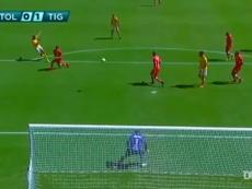 Luis Quinones scored the only goal in Tigres' win over Toluca. DUGOUT