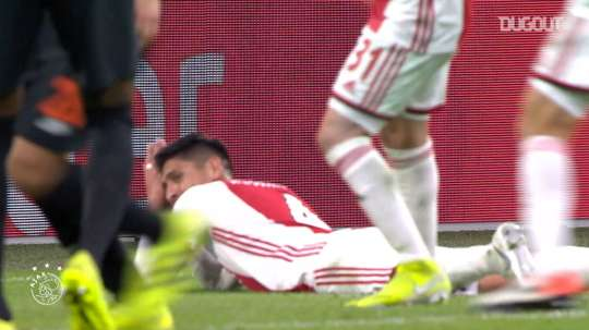 Edson Alvarez played 23 times for Ajax in his first season in Amsterdam. DUGOUT