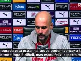 Guardiola falou após a goleada sobre o Crystal Palace. DUGOUT