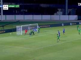 Al Nasr won the Arabian Gulf League match late on. DUGOUT