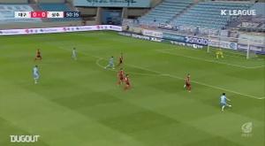Cesinha scored a fabulous goal for Daegu in the draw with Sangju Sangmu. DUGOUT