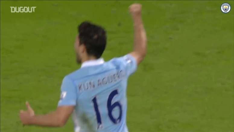 VÍDEO: cinco goles top de Agüero con el Manchester City. DUGOUT