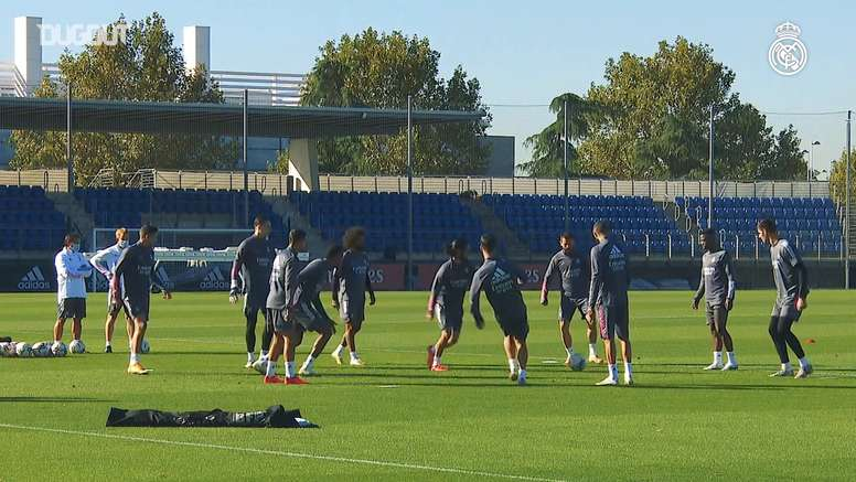 Real Madrid trained at Real MAdrid City. DUGOUT
