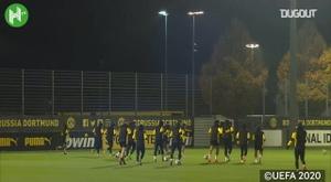 L'ultimo allenamento del Dortmund. Dugout