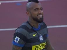 Arturo Vidal had a good match in Inter's 1-1 draw at Lazio. DUGOUT