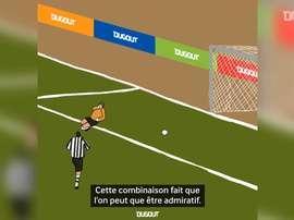 Revivez le but 'pirouette' de Dennis Bergkamp face à Newcastle. DUGOUT