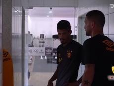 Thiago Neves treina pela primeira vez no Sport. DUGOUT