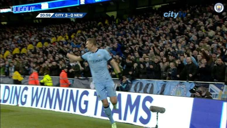 David Silva scored twice in Man City's 5-0 win v Newcastle. DUGOUT