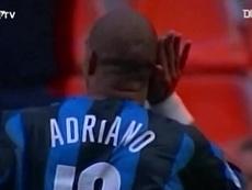 Il gran goal di Adriano contro l'Udinese. Dugout